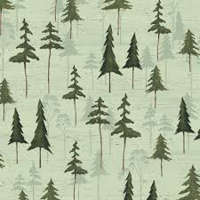 Sage Tree Silhouette Fabric-Wild Woods Windham-Forest Tree Fabric ... & Sage Tree Silhouette Fabric-Wild Woods Windham-Forest Tree Fabric-Pine Tree  Fabric-Rustic Quilt Fabric-Rustic Fabric-Forest Fabric-Quilting Adamdwight.com