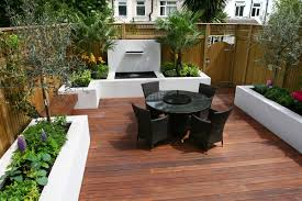 Small Picture Small garden decking ideas