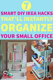 organize small office. DIY Ikea Hacks: 7 Unique Ways To Organize Your Small Office O