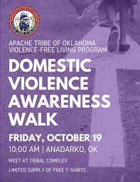 Domestic Violence Awareness Walk Apache Tribe Violence Free Living