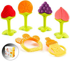 <b>Baby Teething Toys</b> for Newborn Infants (6-Pack) Freezer Safe <b>Infant</b>