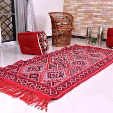 red kilim rug red rug wool red and white kilim rug