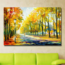 spring landscape oil paintings abstract canvas art home decoration wall art painting hand painted pictures no framed in painting calligraphy from home