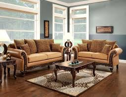couch with wood trim 2 collection two tone tan fabric and brown leatherette upholstered sofa love couch with wood trim living fabric sofa
