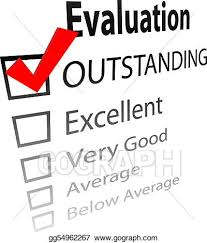 Vector Illustration Outstanding Job Evalution Check Boxes Stock
