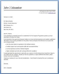 Computer Programmer Cover Letter Sample Sample Resume