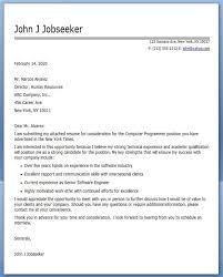 Recommendation Letter For Programmer Computer Programmer Cover Letter Sample Creative Resume Design