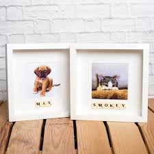personalised pet photo frame your dog or cat name added with scrabble tiles ebay
