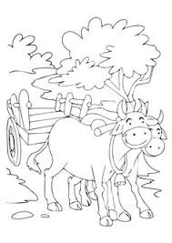 Small Picture The cart harnessed by two bulls coloring pages Download Free The
