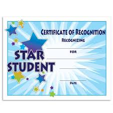Star Student Certificates Star Student Starburst Certificates Pack Andersons