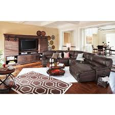 st malo 6 pc power reclining sectional american signature value city furniture leather living room sets