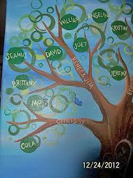 custom hand painted family tree great gift for pas grand pas