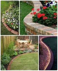 65 lawn flower bed edging ideas to