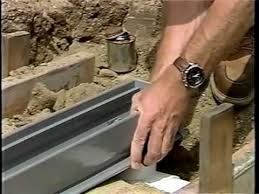 how to install a channel drain for the