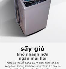 Máy giặt lồng đứng MIdea MAS9501 9.5kg (Trắng/Xám Bạc) - Thiết kế cao cấp -  Sấy gió - Điều khiển tự động - Nhiều chế độ giặt - Hàng Phân Phối Chính
