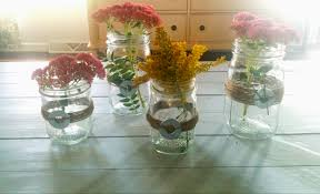 Glass Jar Table Decorations Quick DIY Mason Jars And Twine Fall Centerpieces 19
