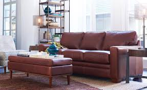 la z boy leather living room with leather meyer sofa and gypsy ottoman
