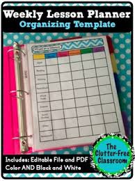 At A Glance Organizer Week At A Glance Lesson Planning Organizer Pacing Template Editable