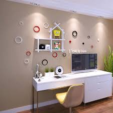 Home office wall shelves Full Length Wall Stunning Wall Shelves For Home Office Area With Small Writing Desk And Modern Chairs Stunning Wall Shelves For Home Office Area With Small Writing Desk