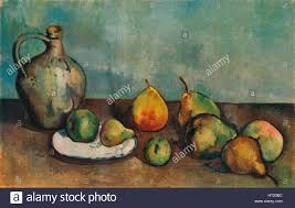still life pitcher and fruit 1894 artist paul cezanne