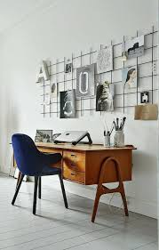 Stunning Cute Wall Gallery Idea For The Home Office Decorated With