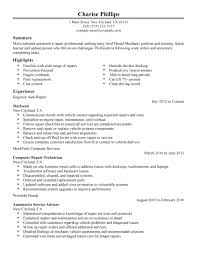 Sample Diesel Mechanic Resume Best Of Resume For Diesel Mechanic Auto Technician Resume Templates Mechanic