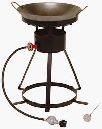 king kooker 24wc heavy duty 24 inch portable propane outdoor cooker with 18 inch steel wok