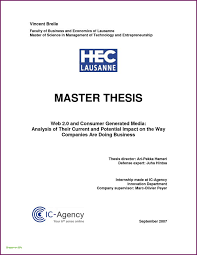 Master Thesis Cover Page Template Master Thesis On Solar Energy