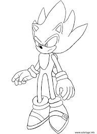 Coloriage Super Sonic Dessin Coloriage Gratuit Gratuito Pc