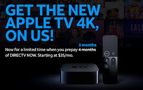 bag a free apple tv 4k when you 3 months of directv now cult of mac