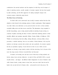 nick duff mkt ethics paper  ethical issues and 3