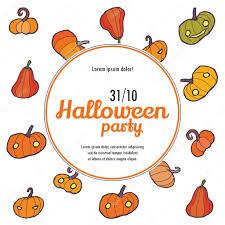 Pumpkin Invitations Template Halloween Vector Invitation Template With Pumpkin Stock Vector