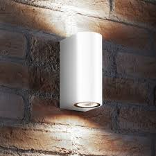 lighting on wall. Outdoor Wall Lights | Up \u0026 Down In White On Led Light Lighting