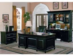 men office decor. Interior Design, The Pleasing Black Furniture In A Elegant Carpet With White Door Frame Traditional Men Office Decor