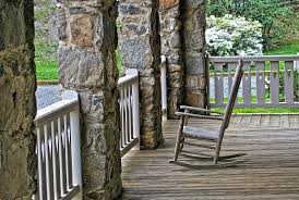 porch rocking chair wood relax front porch leisure