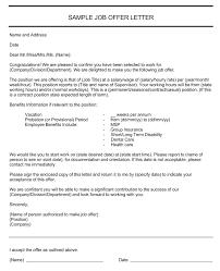 Simple Offer Letter Sample Elisabethnewton Com