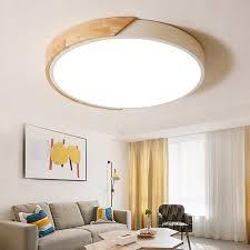 modern minimalist led drum shaped wood