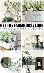 farmhouse look with dollar tree items