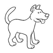 Cane Semplice Disegno Da Colorare Gif Animate Categoria Cani
