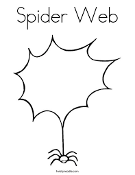 Small Picture Spider Web Coloring Page Twisty Noodle