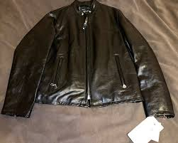 brand new café racer waxy cowhide leather jacket schott nyc size l