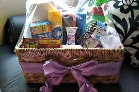 housewarming gift basket is nearly plete cinnamon peach coffee cake