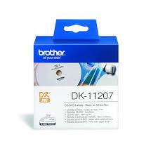BROTHER DK-11207 - <b>наклейки</b> для <b>CD</b>/<b>DVD</b> Ø58 мм цена, купить ...