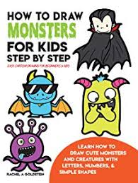 how to draw monsters for kids step by step easy cartoon drawing for beginners kids