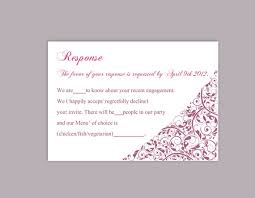 Response Cards For Weddings Diy Wedding Rsvp Template Editable Text Word File Download Rsvp