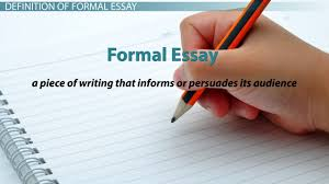 informal essay definition format examples video lesson  formal essay definition examples