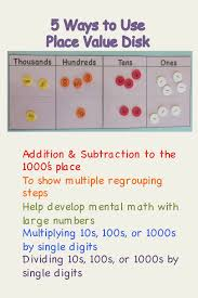 Place Value Chart With Disks 17 Best Images About Place Value Disk Stuff On Pinterest