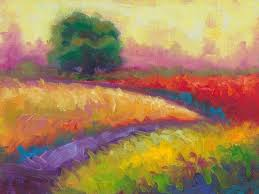 kaleidoscope fields plein air colorful landscape