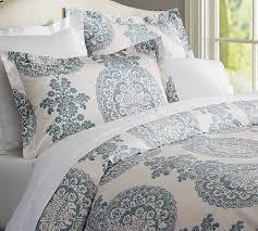 lucianna medallion duvet cover sham pottery barn for elegant household blue king duvet cover plan