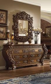 Mirrors For Bedroom Dressers Homey Design Hd 8011 Dm Traditional Vienna Euro Bedroom Dresser Mirror